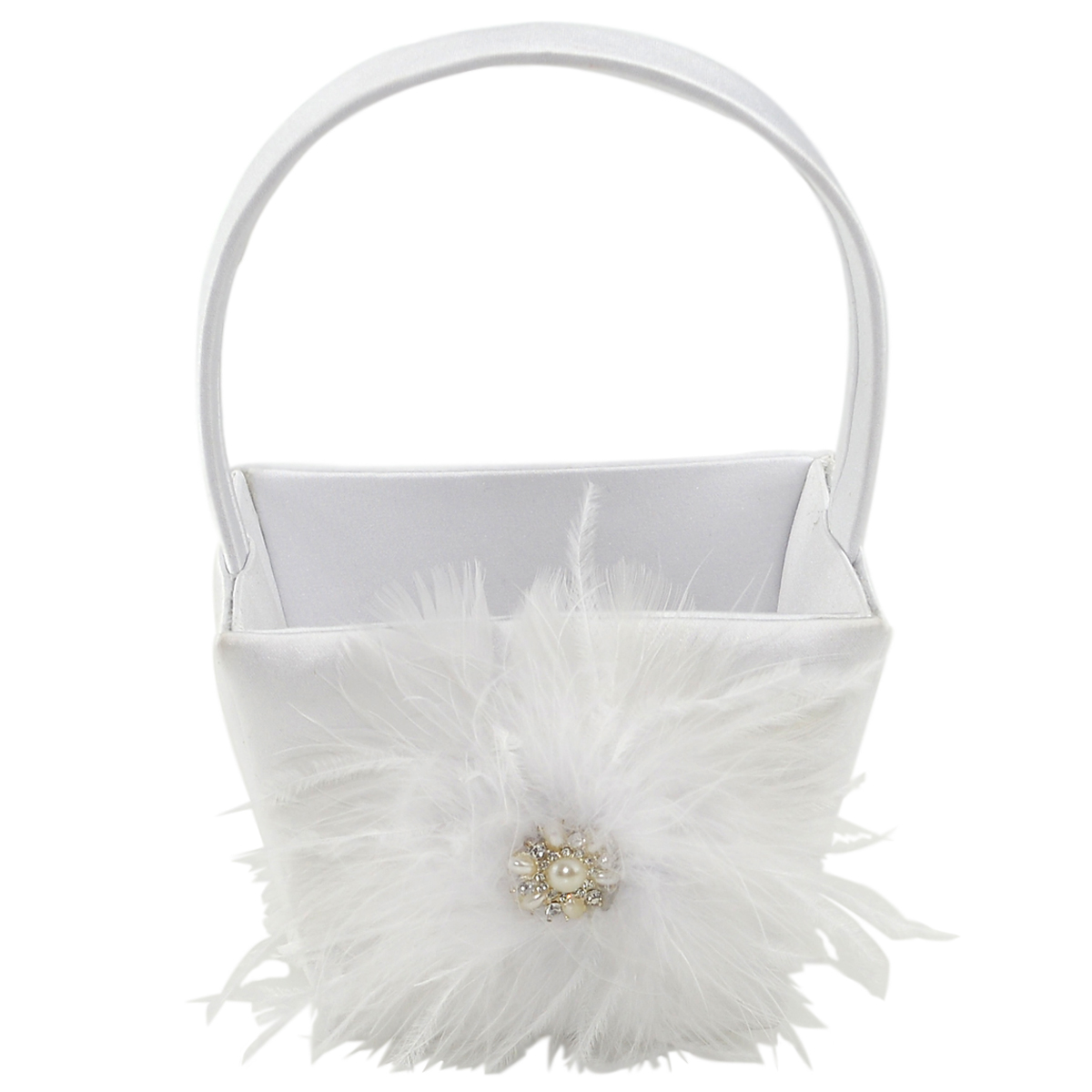 Flower Girl Baskets Canada : Celebrate it occasions feather flower girl basket