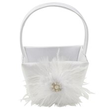 Celebrate It Occasions Feather Flower Girl Basket