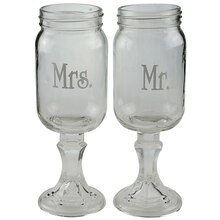 Celebrate It Occasions Mason Jar Toasting Glasses
