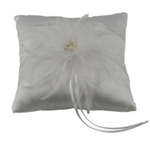 Celebrate It Occasions Feather Ring Bearer Pillow