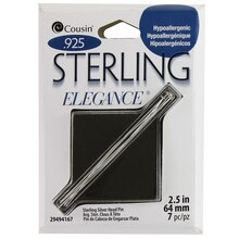 Cousin Sterling Elegance Sterling Silver Head Pins