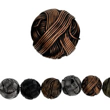 Bead Gallery Wire Beads, Multicolor Precious Metal, Close Up