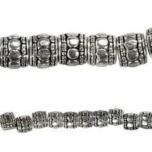 Bead Gallery Sterling Silver Plated Tube Beads, Close Up