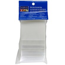 "ArtMinds White Block Reclosable Bags, 2"" x 3"""