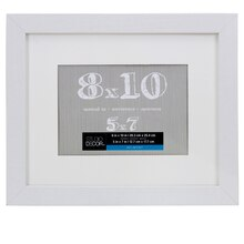 "Studio Décor Belmont Frame With Mat, White 5"" x 7"""
