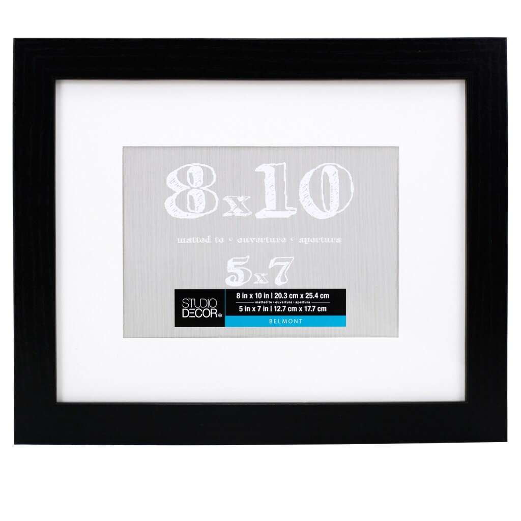Black Belmont Frame With Mat By Studio D 233 Cor 174