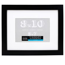 black belmont frame with mat by studio dcor 8 x 10