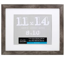 "Studio Décor Belmont Frame With Mat, Gray 8"" x 10"""
