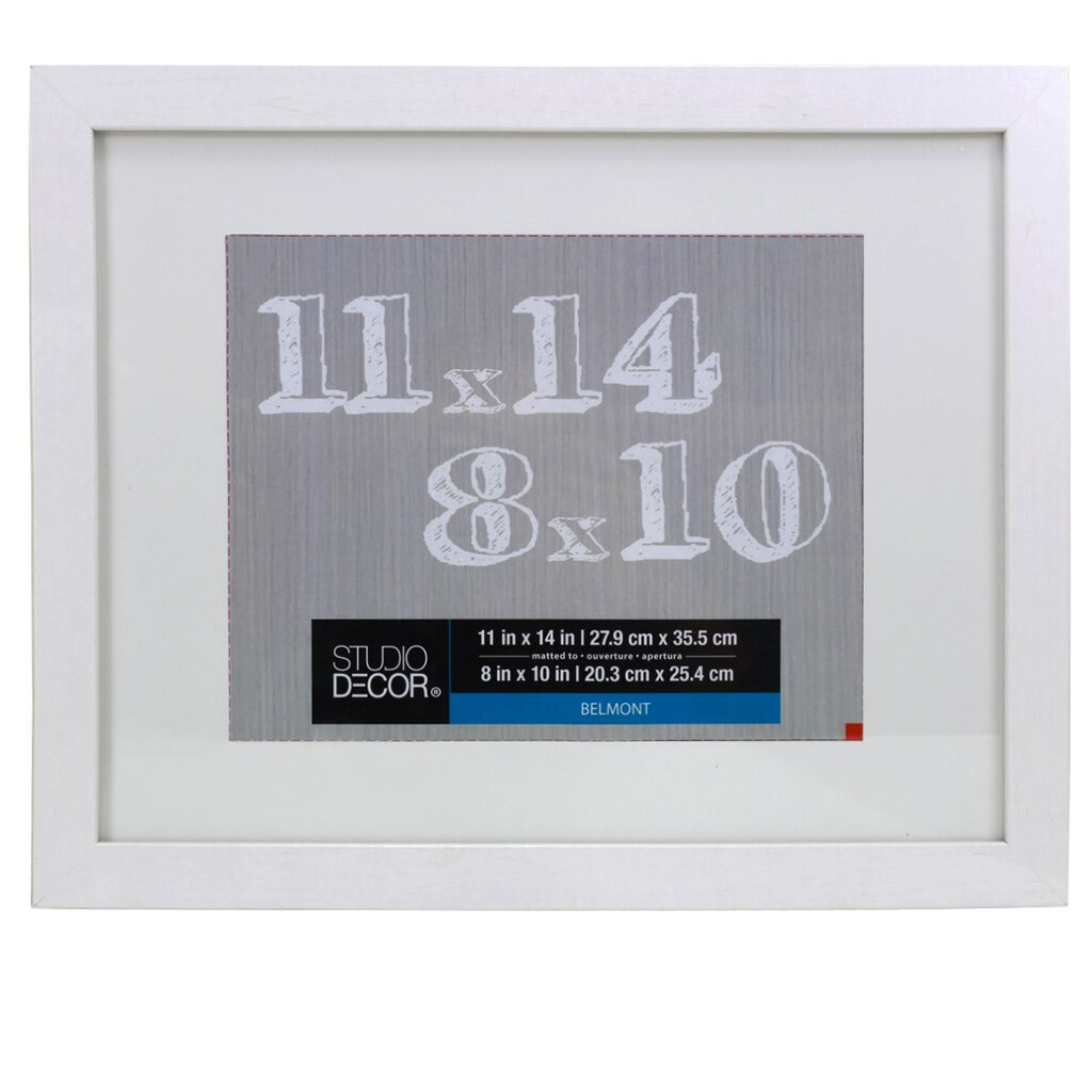 White belmont frame with mat by studio dcor jeuxipadfo Gallery