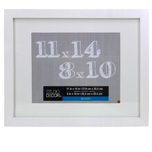 "Studio Décor Belmont Frame With Mat, White 8"" x 10"""