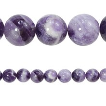 Bead Gallery Round Amethyst Beads, Close Up