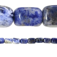 Bead Gallery Nugget Beads, Sapphire, Close Up