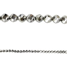 Bead Gallery Faceted Beads, Silver Iris Glass, 8 mm, Close Up