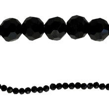 Bead Gallery Faceted Glass Beads, Black, Close Up