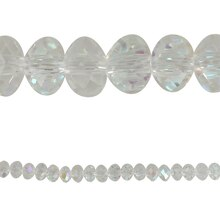 Bead Gallery Clear Faceted Crystal Beads, Close Up