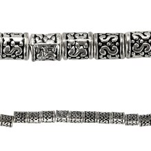 Bead Gallery Antique Silver Tube Beads, Close Up