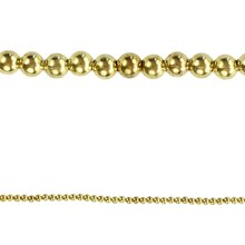 Bead Gallery Round Gold Tone Beads, 3 mm, Close Up