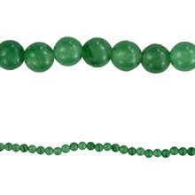 Bead Gallery Aventurine Round Beads, Green, Close Up