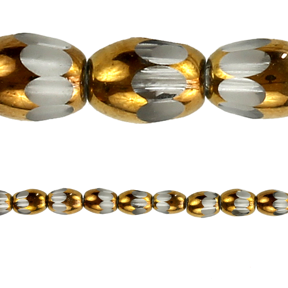 bead gallery faceted glass oval beads copper