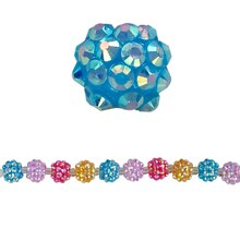 Bead Gallery Faceted Cluster Round Beads, Multicolor, Close Up