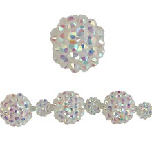 Bead Gallery Acrylic Ball Beads, Iridescent, Close Up