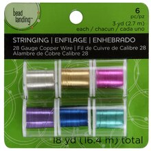 Bead Landing Silver Plated Copper Wire, 28 Gauge, 6 Pack