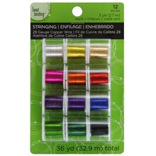 Bead Landing Silver Plated Copper Wire, 28 Gauge, 12 Pack