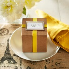 Paris Stamped Gift Box Label