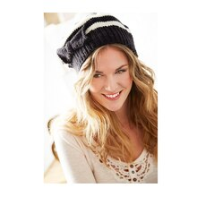 Loops & Threads® Black and White Beret
