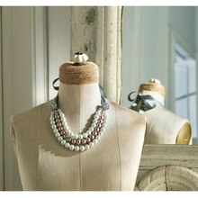 Springtime in Paris: Multi-Strand Pearl Necklace