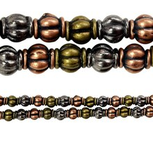 Bead Gallery Metal Carved Lantern Beads, Close Up