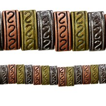 Bead Gallery Carved Metal Spacer Beads, Close Up