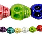 Bead Gallery Ceramic Skull Beads, Close Up