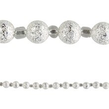 Bead Gallery Silver Plated Round Stardust Beads, 8mm, Close Up