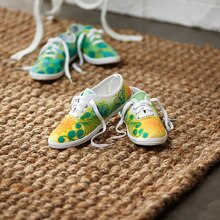 Simple Flower Watercolor Canvas Shoes
