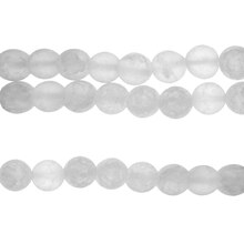 Bead Gallery White Round Quartz Beads, 10mm, Close Up
