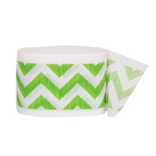 Crepe Paper Lime Green Chevron Party Streamers, 30 Ft.