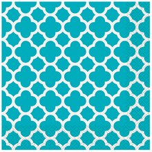 Teal Quatrefoil Luncheon Napkins, 16ct