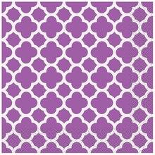 Purple Quatrefoil Luncheon Napkins, 16ct