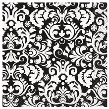 Black Damask Cocktail Napkins, 16ct