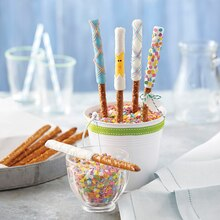 Easter Candy-Dipped Pretzels