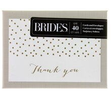 Brides Gold Foil Dot Thank You Cards