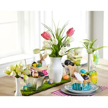 White Bud Vase Trio Centerpiece