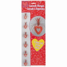 Hanging Cascade Hearts Valentine Decoration, 7 Ft.