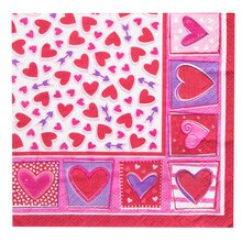 Sweethearts Valentine Beverage Napkins, 16ct