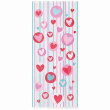 Simply Hearts Valentine Cellophane Bags, 20ct
