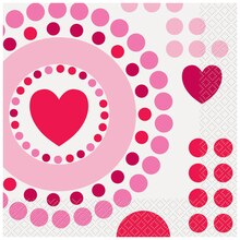 Radiant Hearts Valentine Luncheon Napkins, 16ct
