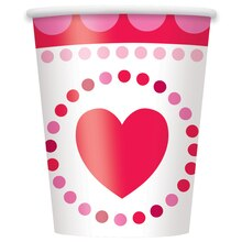 9 oz. Radiant Hearts Valentine Paper Cups, 8ct