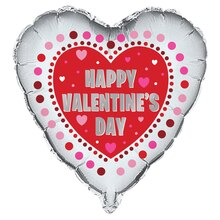 Foil Radiant Hearts Valentine Balloon, 18""