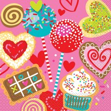 Sweet Valentine Luncheon Napkins, 16ct